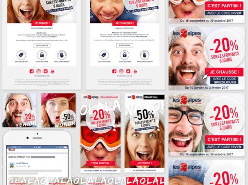 La campagne digitale des 2 Alpes