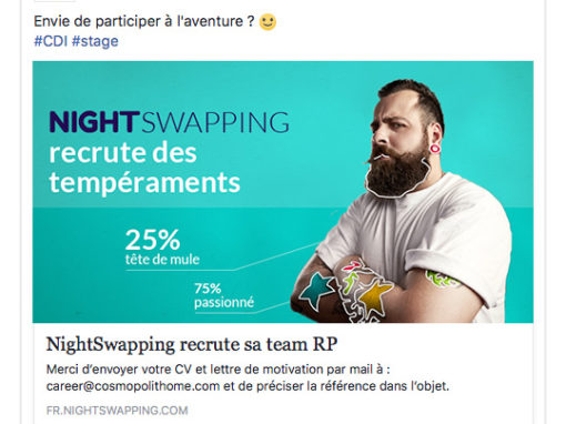 La campagne de recrutement Nightswapping
