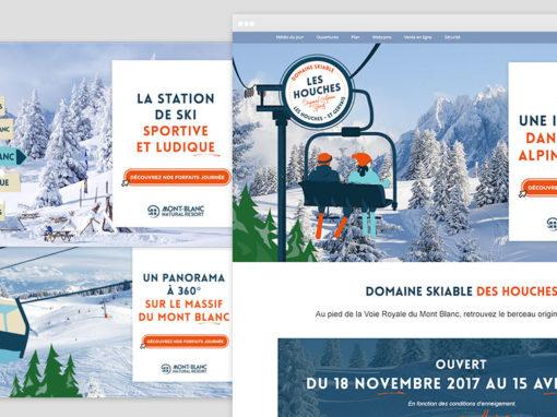 La page d'accueil du domaine skiable des Houches